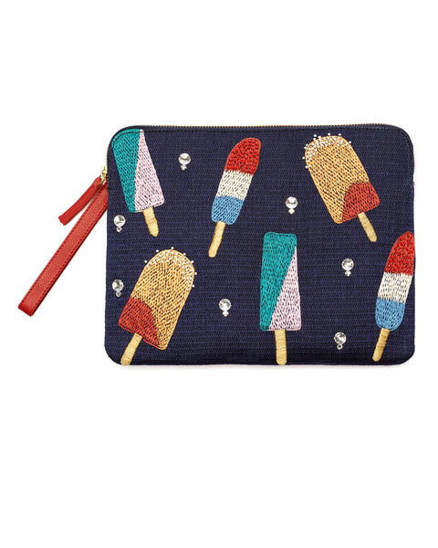 Lizzie Fortunato | Safari Clutch in Ice Pop