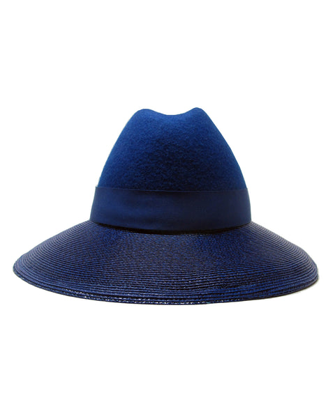 Gigi Burris | Requiem Fedora in Blue - FINAL SALE