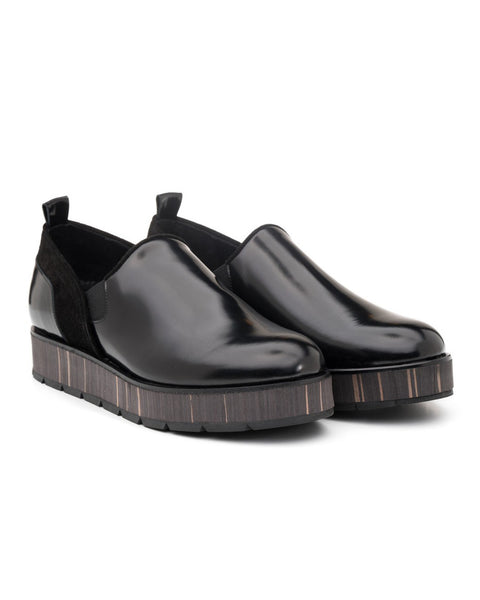 SUNO Black Platform Creeper | Made in Italy