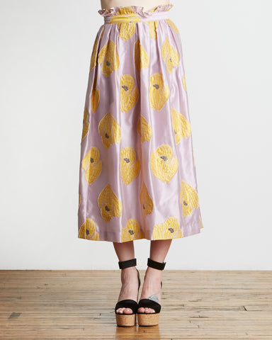 SUNO Crocus Jacquard Skirt in Lilac
