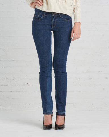 TOME Recycled Denim Skinny Jeans with Patch Detail | Made in New York