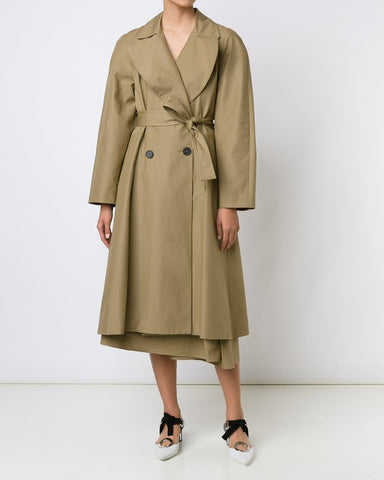 TOME Embroidered Tailored Trench Coat | Made in New York