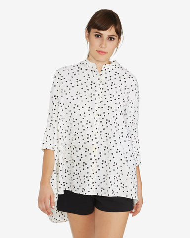 The Podolls Parachute Shirt | Black Dots
