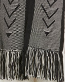 Voz | UN Trust Fund Scarf in Black Fringe detail