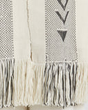 Voz | UN Trust Fund Scarf in Ivory and Grey fringe detail