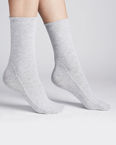 Darner Socks | Bamboo Jersey Socks in Light Grey
