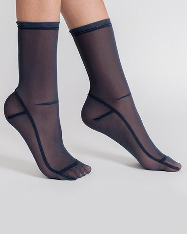 Darner Socks | Mesh Socks in Navy