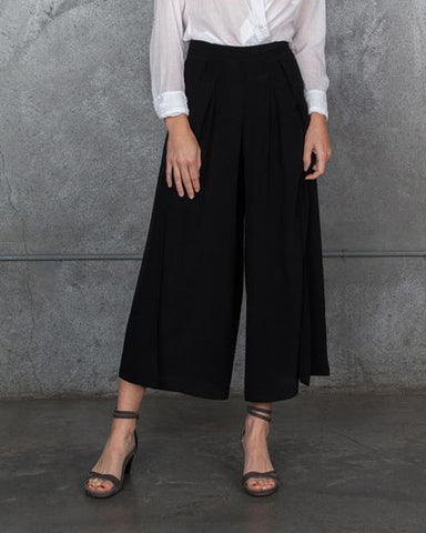 Morgan Carper Simi Silk Pants | Black - FINAL SALE