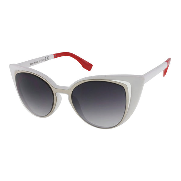 Womens Metal Rim Cateye Sunglasses