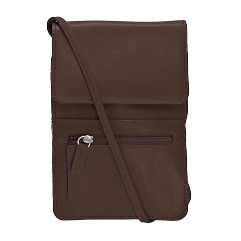 Leather Organizer on a String - Brown