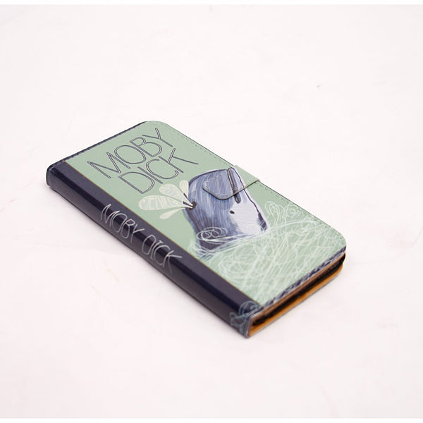 Moby Dick Book phone flip case wallet for iPhone and Samsung