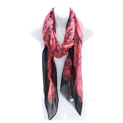 Lace Print Neon Lightweight Blanket Scarf Shawl