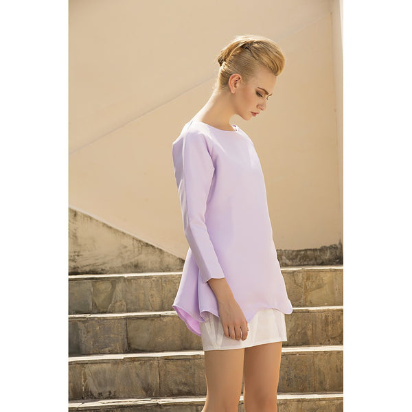 Lavender muffin dress