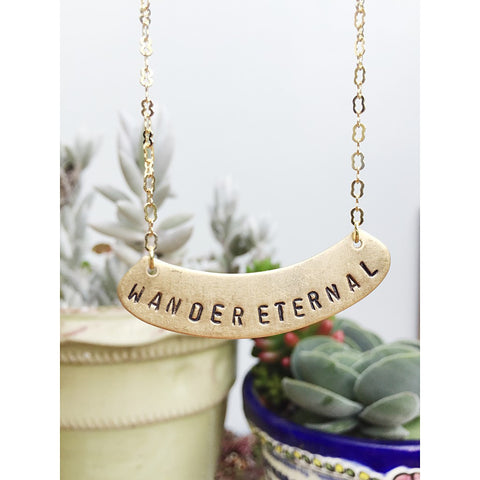 """WANDER ETERNAL"" GOLD NECKLACE"