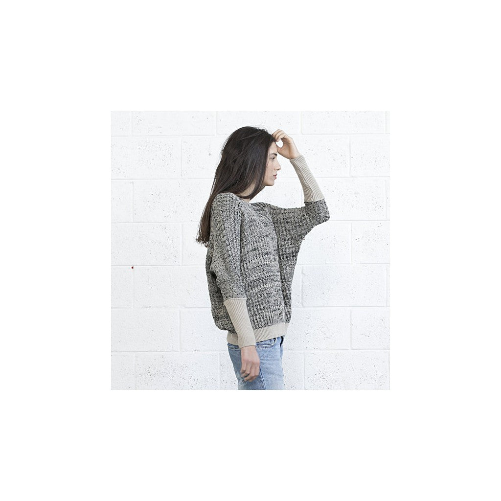 Multi color sweater -Ivory Black