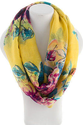 BE IN FULL BLOOM ROSE SCARF Yellow