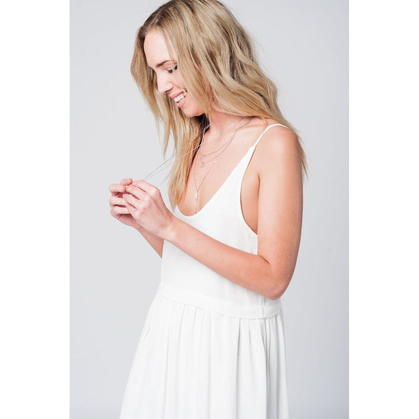 Cami strappy maxi dress in white