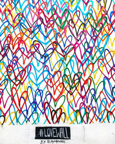 Multicolored Hearts Wall Mural