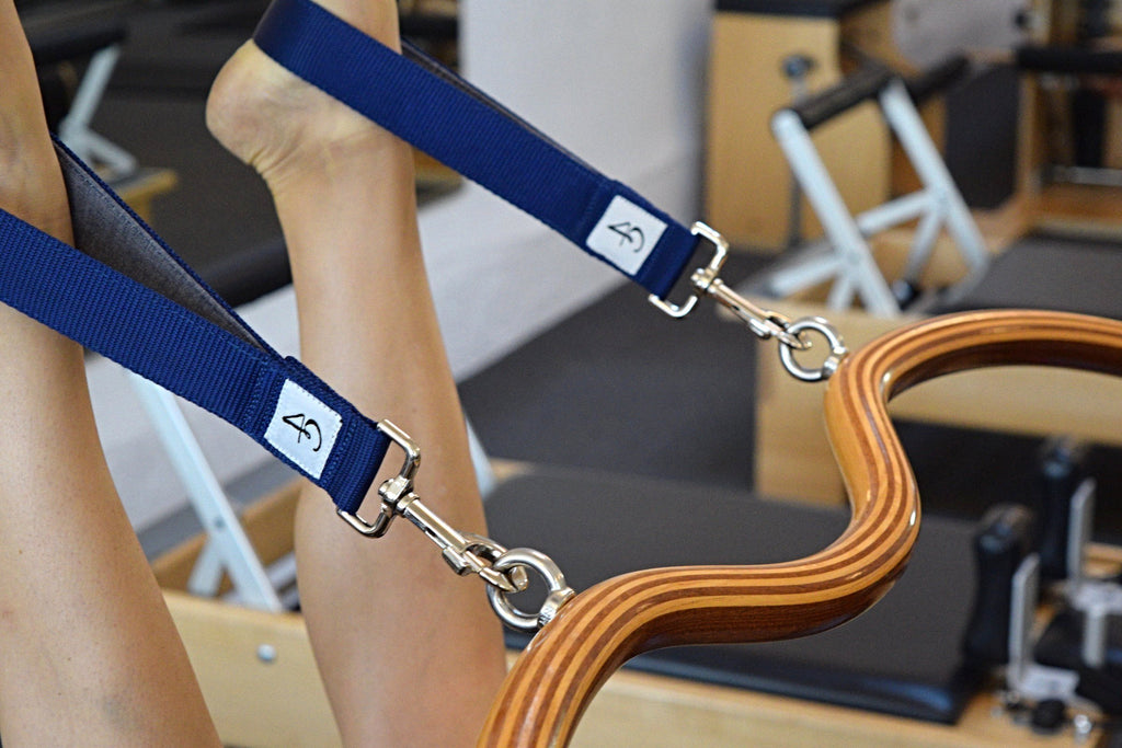 Blue and greay Arcus Personal Pilates Loops Pilates Straps Arcus Bar