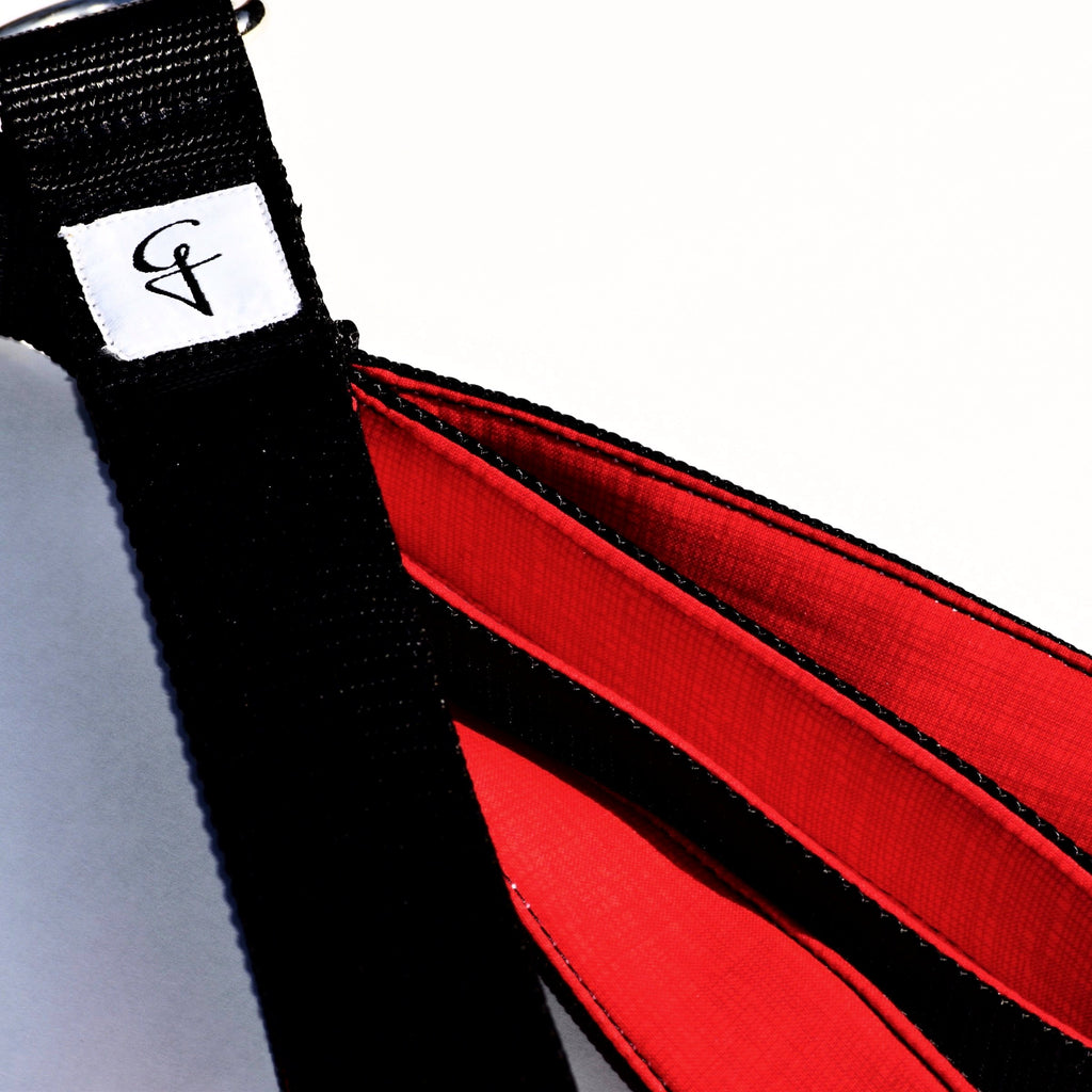 Black and Red Personal Pilates Loops Pilates Straps
