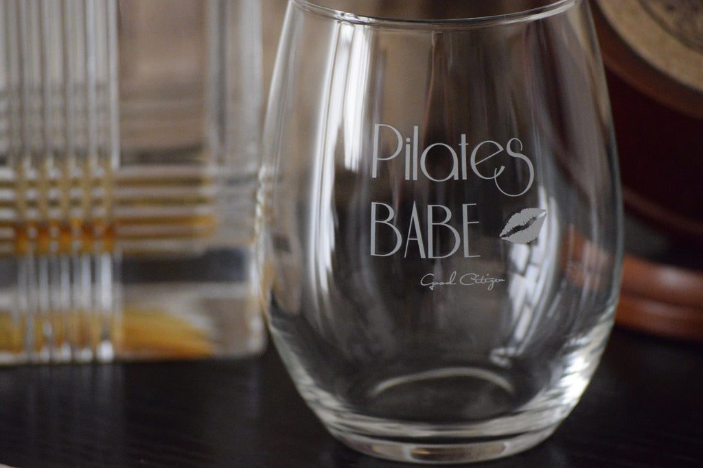 PILATES BABE Wine Glasses (Set of 4)