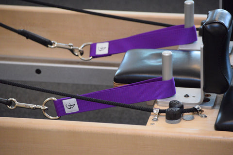 Pilates Single Unpadded Straps in Purple for the Reformer, Cadillac, and Pilates equipment.