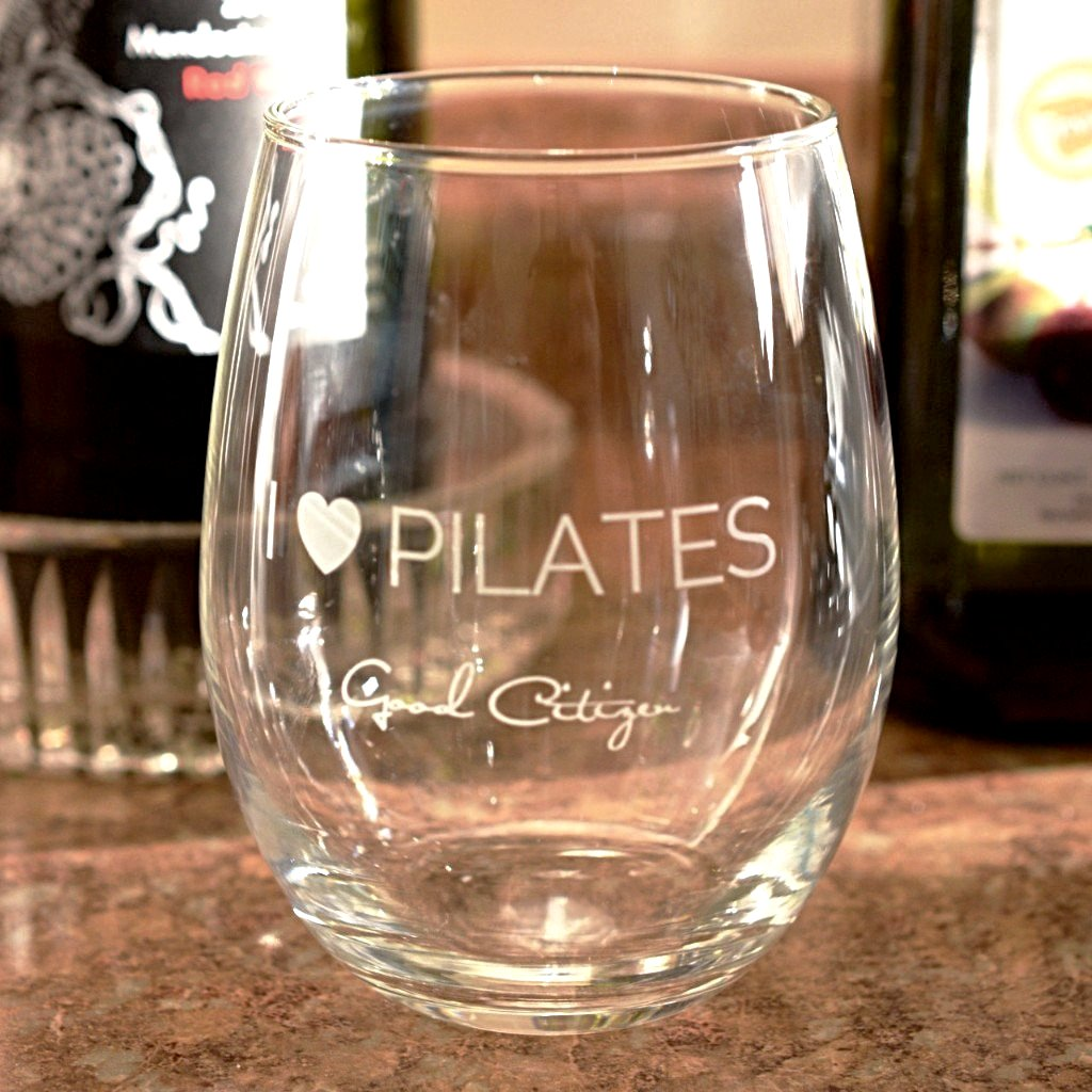 I LOVE PILATES Wine Glasses (Set of 4)