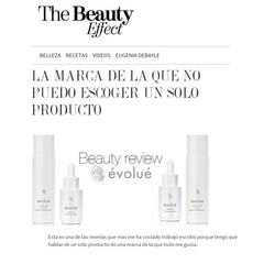 Evolue Skincare featured in The Beauty Effect