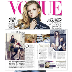 Evolue Skincare featured in Vogue Latin America with Alysia