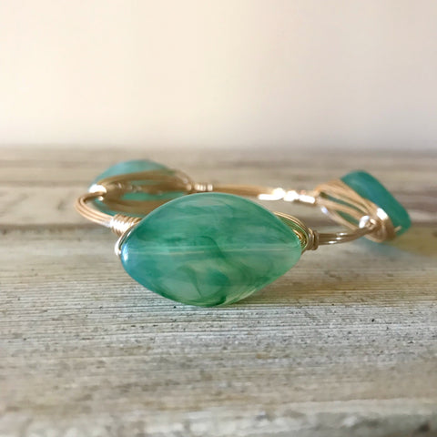 Green Oval bangle