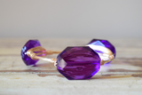 Purple Crystal Wire Wrap Bangle