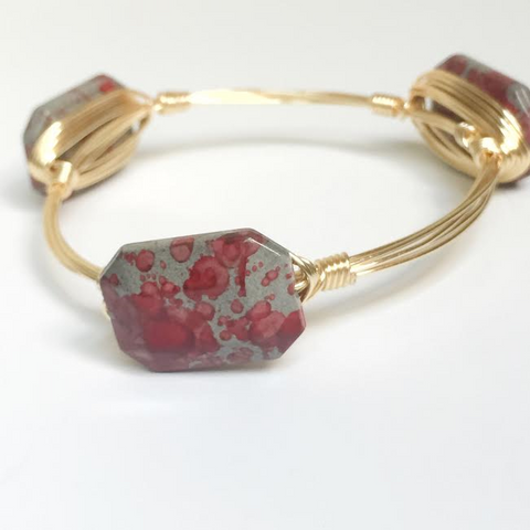 Red Splatter Acrylic Bangle