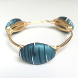 Blue Acrylic Painted Bangle