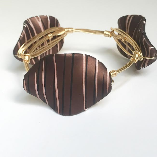 Brown Painted Acrylic Bangle