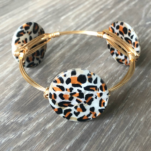 Cheetah Print Bangle