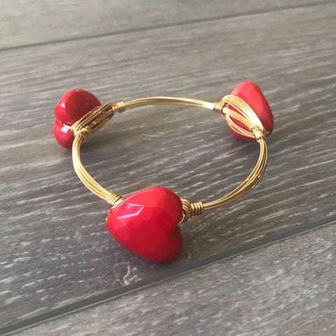 Red Heart Bangle