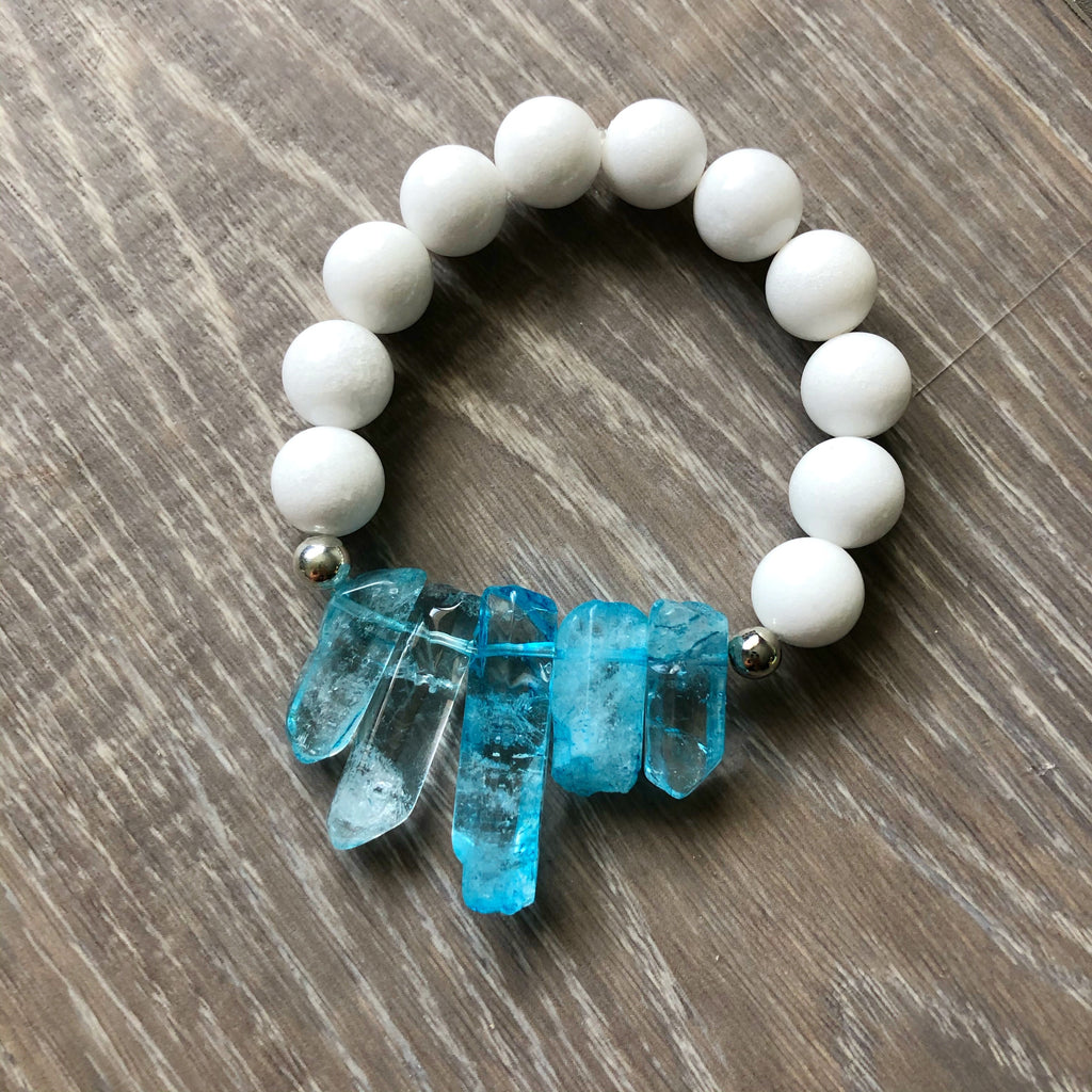 White and Blue Crystal Bracelet