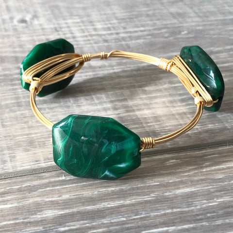 Green Acrylic Bangle