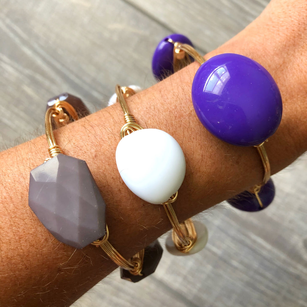 Gray Bead Bangle