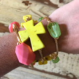 Yellow Cross Bangle