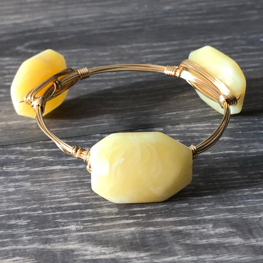 Yellow Bead Bangle