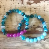 Turquoise and Teal Bead Bracelet