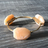 Peach Acrylic Bangle