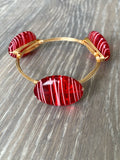 Red Painted Bangle