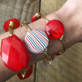 Round Red Acrylic Bangle