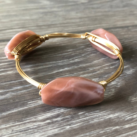 Dusty Rose Bead Bangle