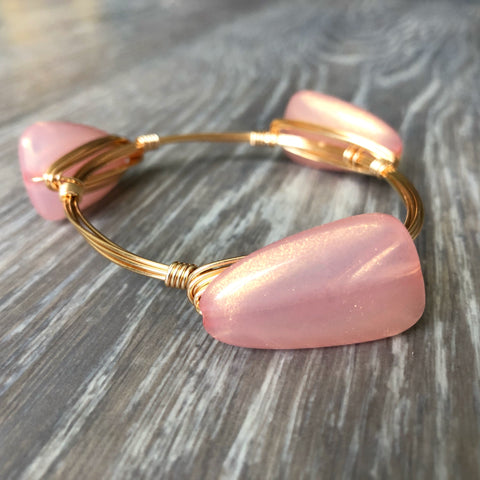 Light Pink Bead Bangle