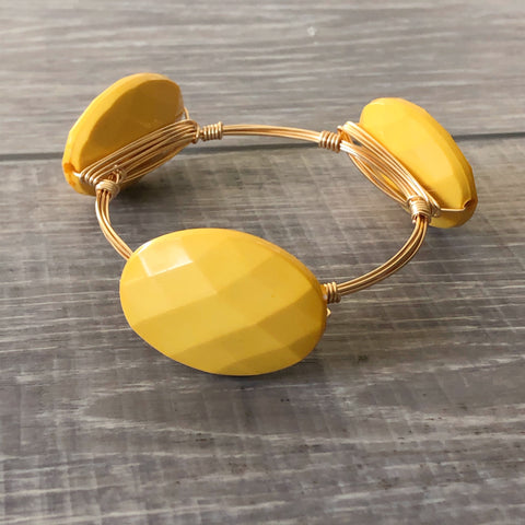 Golden Yellow Acrylic Bangle