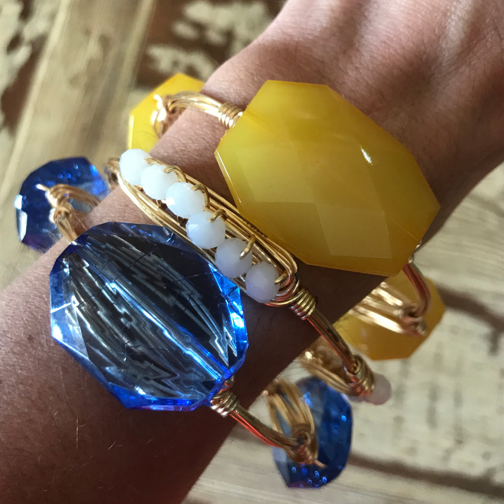 Blue Crystal Bangle