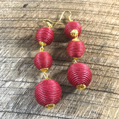 Crimson Bonbon Earrings